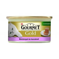 Gourmet-Gold-Darabok-Pastetomban-Barannyal-es-Kacsaval-85G-Eledel-Macskanak