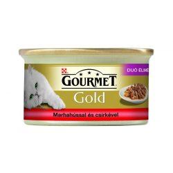 Gourmet-Gold-Duo-Marhaval-es-Csirkevel-85G-Eledel-Macskanak