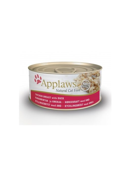 Applaws-Cat-Konzerv-Macskanak-Csirkevel-es-Kacsaval-70G