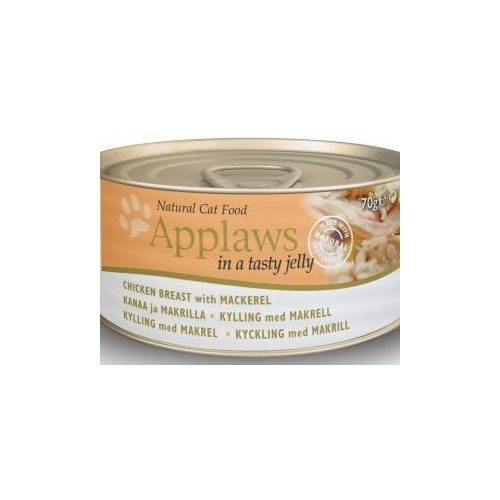 Applaws-Cat-Konzerv-Macskanak-Csirkevel-es-Makrelaval-Aszpikban-70G