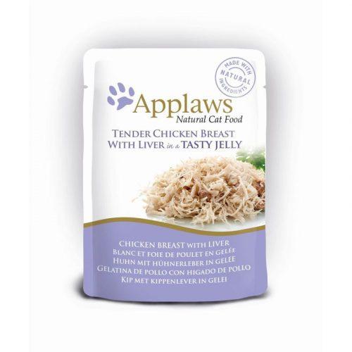 Applaws-Cat-Tasakos-Csirkehus-Majjal-Zseleben-70G-Eledel-Macskanak