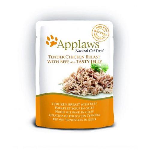 Applaws-Cat-Tasakos-Csirkehus-Marhahussal-Zseleben-70G-Eledel-Macskanak