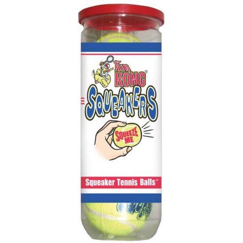 Kong-Squeakair-Balls-Tenisz-Labda-M-3db-Interktiv-Jatek-Kutyanak-