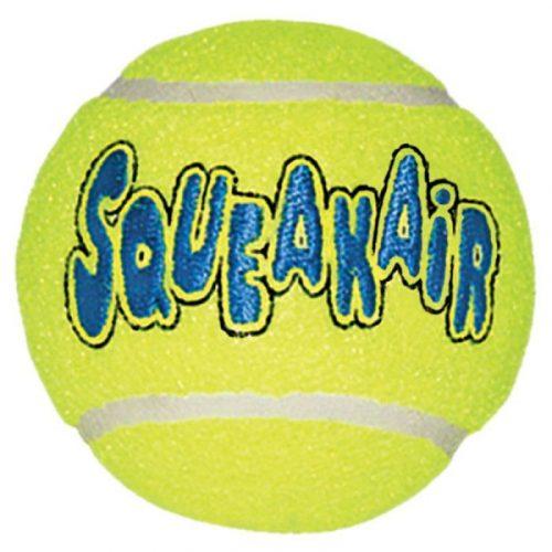 Kong-Squeakair-Tennis-Ball-Labda-Kicsi-3db-Interktiv-Jatek-Kutyanak-