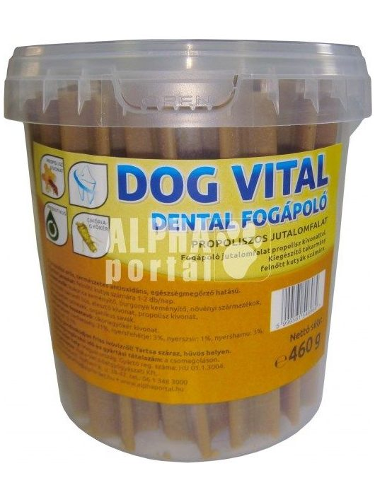Dog-Vital-Dental-Fogapolo-Propolisszal-es-Vaniliaval-460G-Jutalomfalat-Kutyanak-