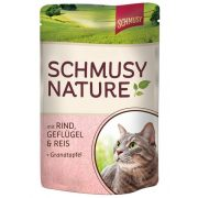 Schmusy-Nature-Macskaeledel-Alutasakos-Marha-Baromfi-100G