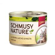 Schmusy-Nature-Macska-Konzerv-Csirke-Lazac-190G