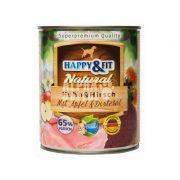 Happy-Fit-Natural-Huhn-Hirsch-mit-Apfel-Distelol-800g