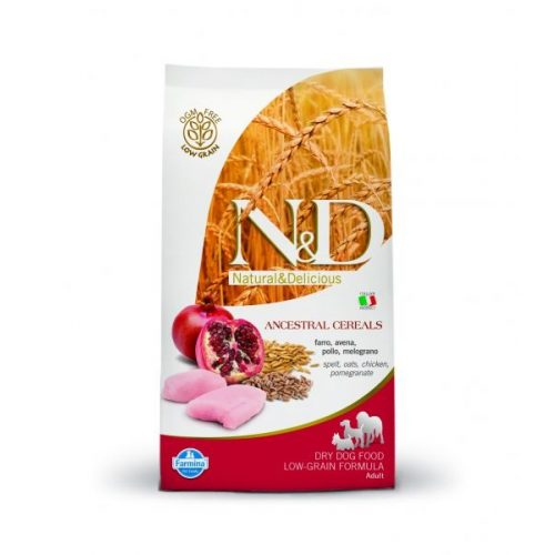N-D-Low-grain-Csirke-granatalma-800G-Szaraz-Kutyatap