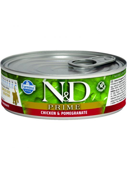 N&D Cat konzerv Kitten Konzerv Csirke&Gránátalma 80g