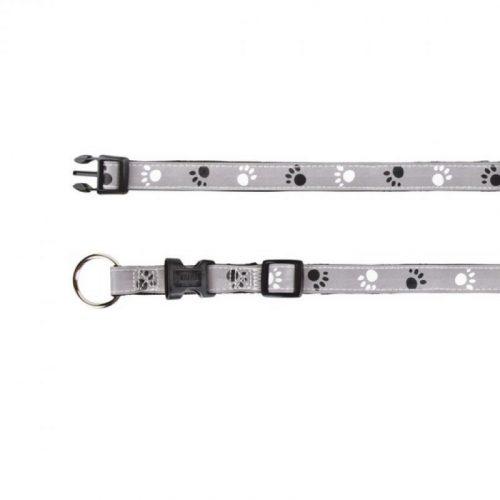 Reflect-Fenyvisszavero-Tappancsos-Szurke-Fekete-L-Xl-40-65cm-25Mm-nyakorv-Kutyanak-TRX12224