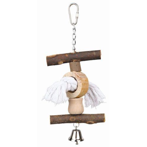 Fa-Kiegeszitok-es-Kotel-Csengovel-20cm-Jatek-Madarnak-TRX58961